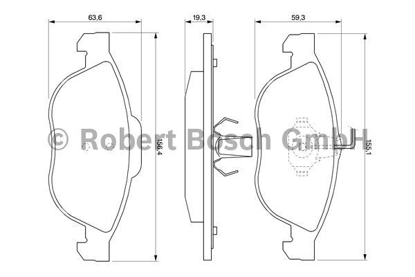 Kit de plaquettes de frein, frein à disque - BOSCH - 0 986 424 507