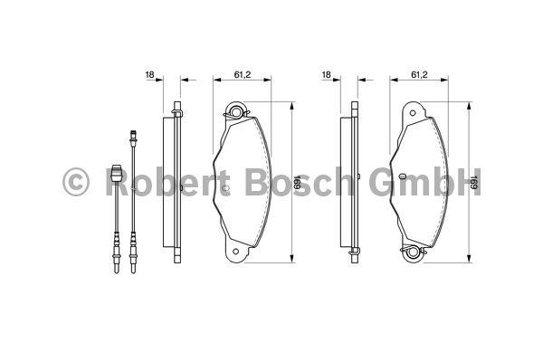 Kit de plaquettes de frein, frein à disque - BOSCH - 0 986 424 511