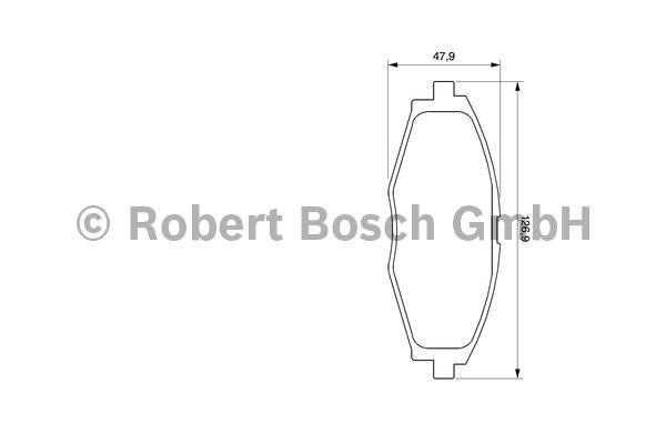 Kit de plaquettes de frein, frein à disque - BOSCH - 0 986 424 512
