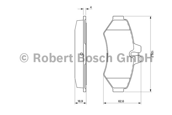 Kit de plaquettes de frein, frein à disque - BOSCH - 0 986 424 516