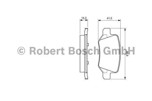 Kit de plaquettes de frein, frein à disque - BOSCH - 0 986 494 023