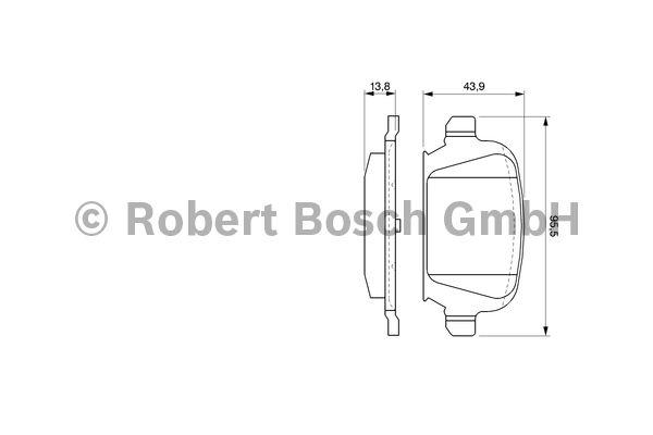 Kit de plaquettes de frein, frein à disque - BOSCH - 0 986 424 528