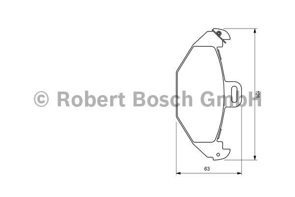 Kit de plaquettes de frein, frein à disque - BOSCH - 0 986 424 532