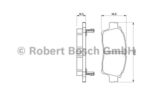 Kit de plaquettes de frein, frein à disque - BOSCH - 0 986 424 535