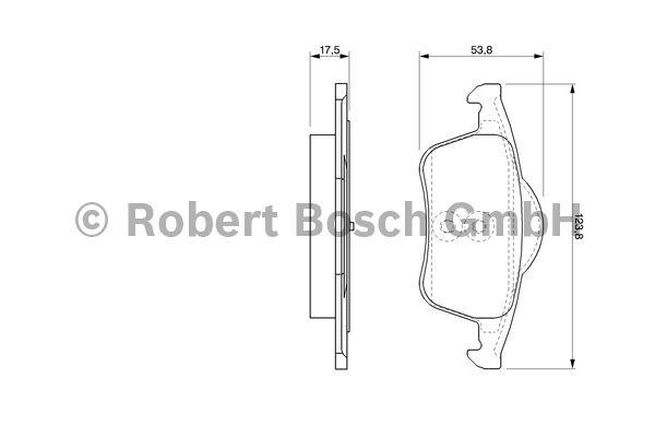 Kit de plaquettes de frein, frein à disque - BOSCH - 0 986 424 539