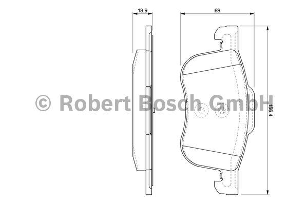 Kit de plaquettes de frein, frein à disque - BOSCH - 0 986 424 540