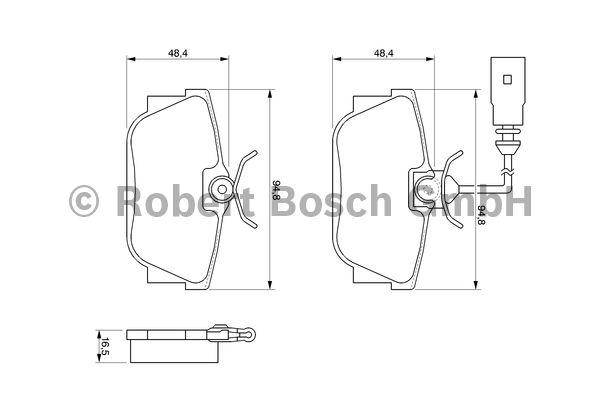 Kit de plaquettes de frein, frein à disque - BOSCH - 0 986 494 025