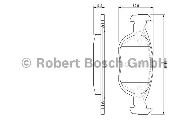 Kit de plaquettes de frein, frein à disque - BOSCH - 0 986 424 544