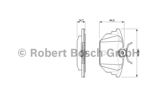 Kit de plaquettes de frein, frein à disque - BOSCH - 0 986 424 545