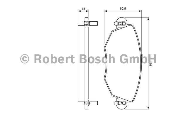 Kit de plaquettes de frein, frein à disque - BOSCH - 0 986 494 026