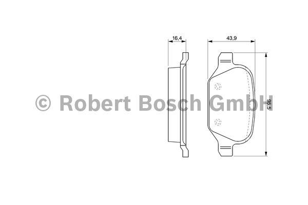 Kit de plaquettes de frein, frein à disque - BOSCH - 0 986 424 553