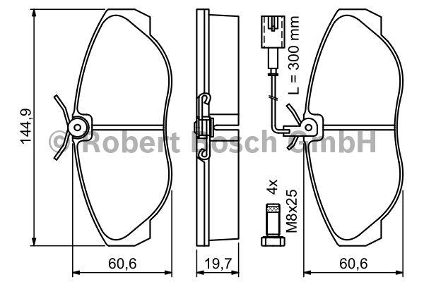 Kit de plaquettes de frein, frein à disque - BOSCH - 0 986 424 556