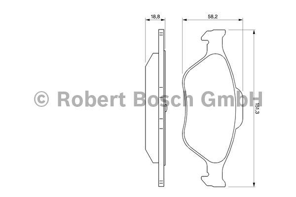 Kit de plaquettes de frein, frein à disque - BOSCH - 0 986 424 558