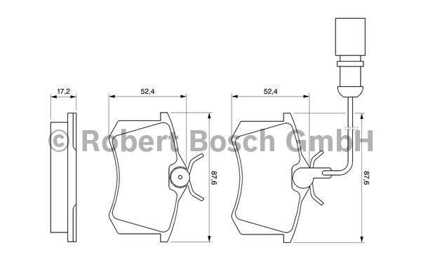 Kit de plaquettes de frein, frein à disque - BOSCH - 0 986 424 559