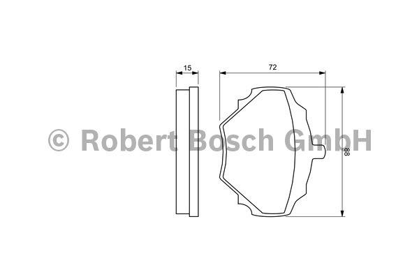 Kit de plaquettes de frein, frein à disque - BOSCH - 0 986 424 563