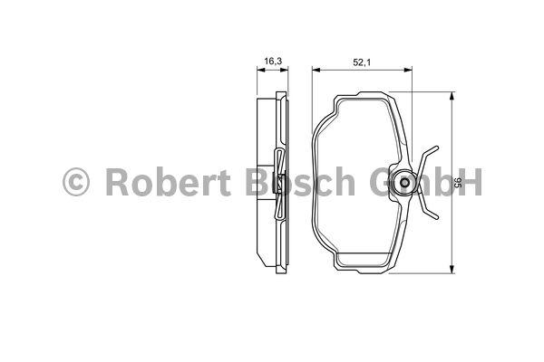 Kit de plaquettes de frein, frein à disque - BOSCH - 0 986 424 564