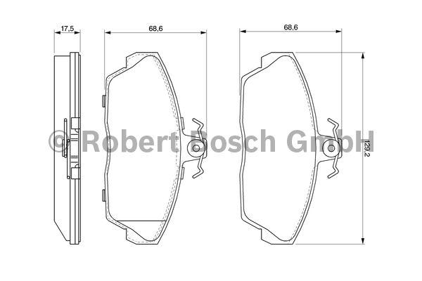 Kit de plaquettes de frein, frein à disque - BOSCH - 0 986 424 566