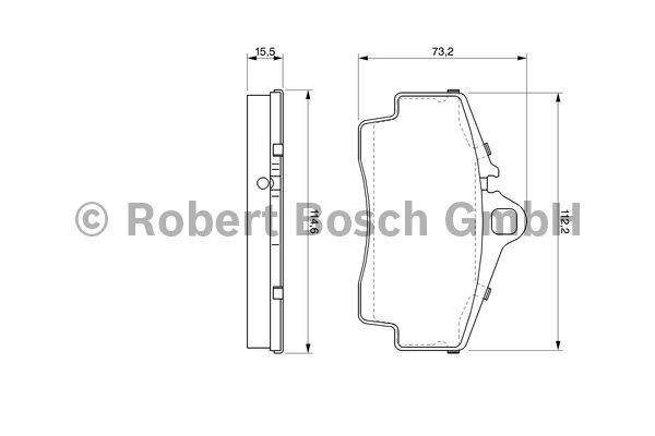 Kit de plaquettes de frein, frein à disque - BOSCH - 0 986 424 569