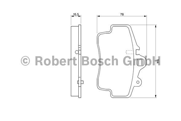 Kit de plaquettes de frein, frein à disque - BOSCH - 0 986 424 570