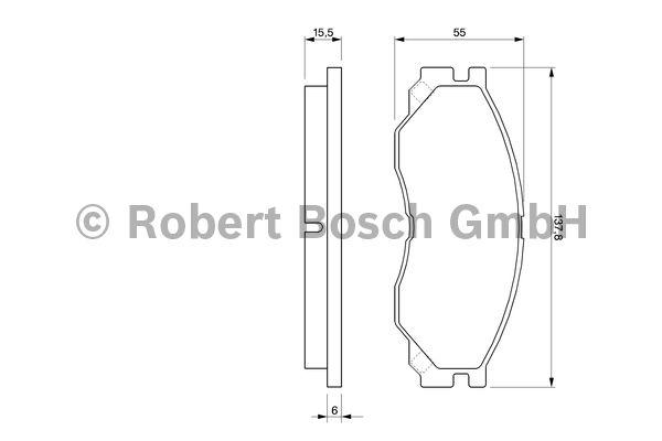 Kit de plaquettes de frein, frein à disque - BOSCH - 0 986 424 572