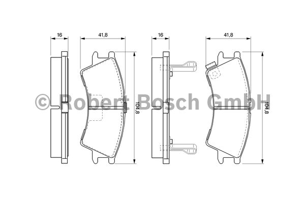 Kit de plaquettes de frein, frein à disque - BOSCH - 0 986 424 575