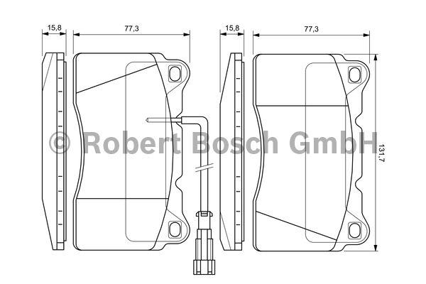 Kit de plaquettes de frein, frein à disque - BOSCH - 0 986 424 577