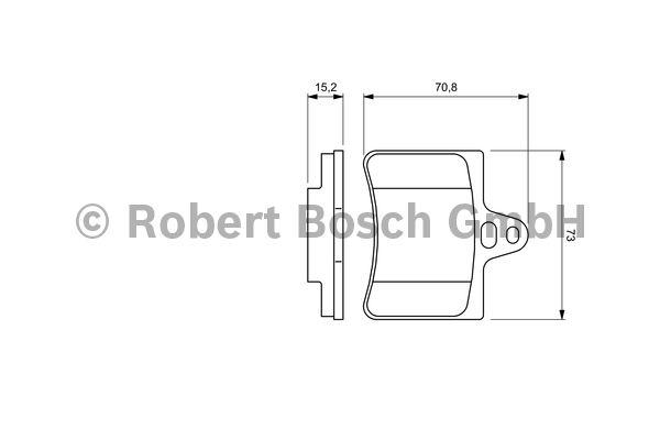 Kit de plaquettes de frein, frein à disque - BOSCH - 0 986 424 580