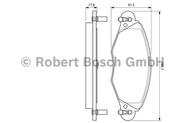 Kit de plaquettes de frein, frein à disque - BOSCH - 0 986 424 581