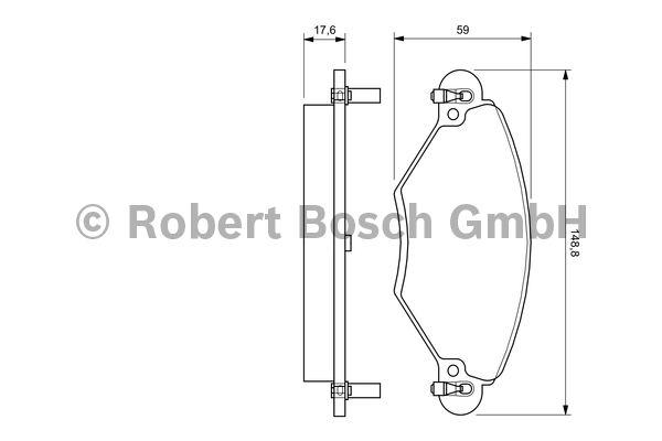 Kit de plaquettes de frein, frein à disque - BOSCH - 0 986 424 582