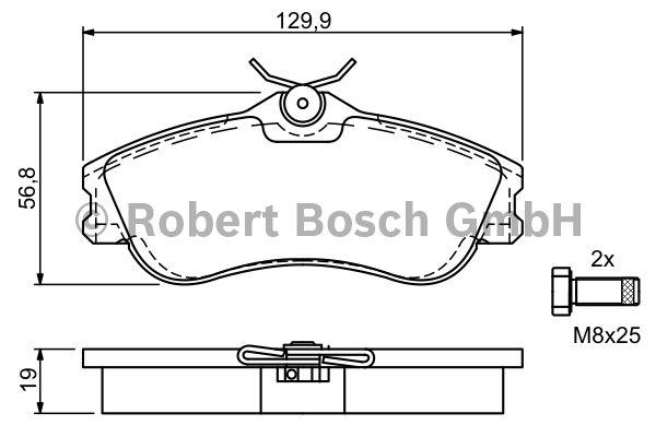 Kit de plaquettes de frein, frein à disque - BOSCH - 0 986 424 583