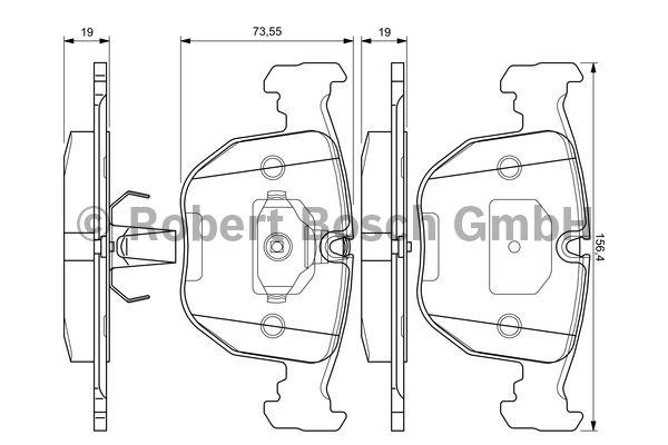 Kit de plaquettes de frein, frein à disque - BOSCH - 0 986 494 028