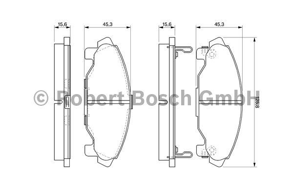 Kit de plaquettes de frein, frein à disque - BOSCH - 0 986 424 590