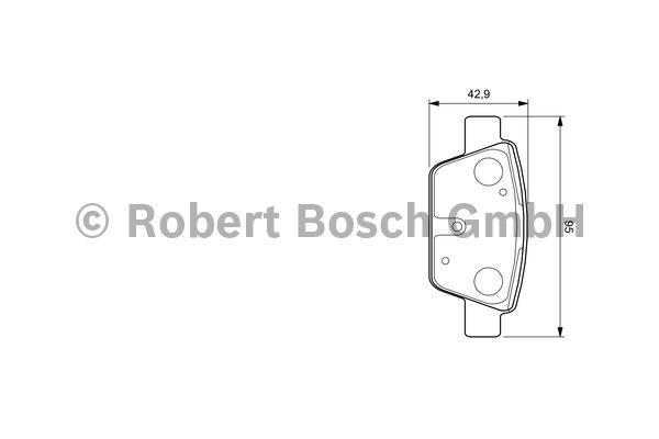 Kit de plaquettes de frein, frein à disque - BOSCH - 0 986 494 030