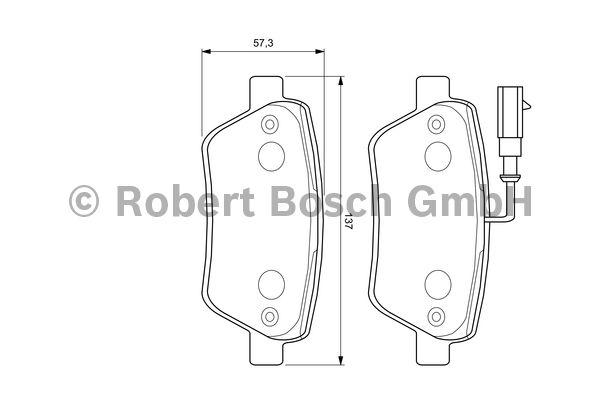 Kit de plaquettes de frein, frein à disque - BOSCH - 0 986 424 596