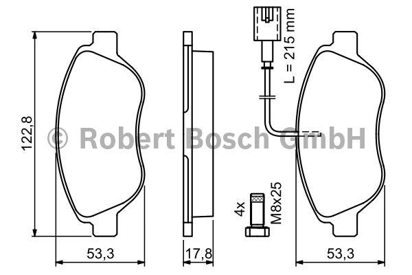 Kit de plaquettes de frein, frein à disque - BOSCH - 0 986 424 597