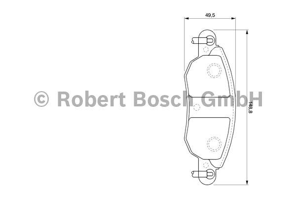 Kit de plaquettes de frein, frein à disque - BOSCH - 0 986 424 598
