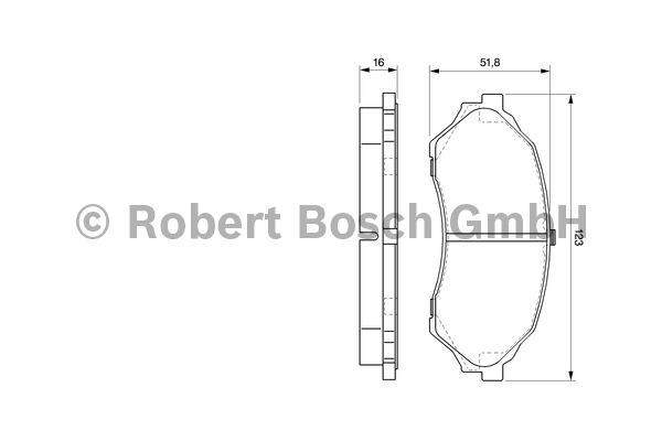 Kit de plaquettes de frein, frein à disque - BOSCH - 0 986 424 610