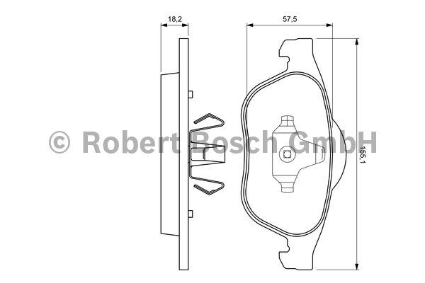 Kit de plaquettes de frein, frein à disque - BOSCH - 0 986 424 616