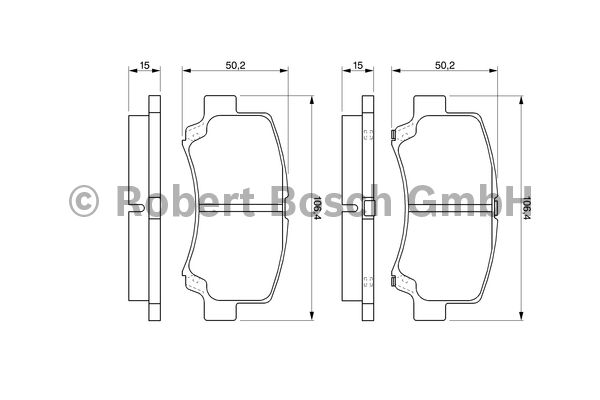 Kit de plaquettes de frein, frein à disque - BOSCH - 0 986 424 626