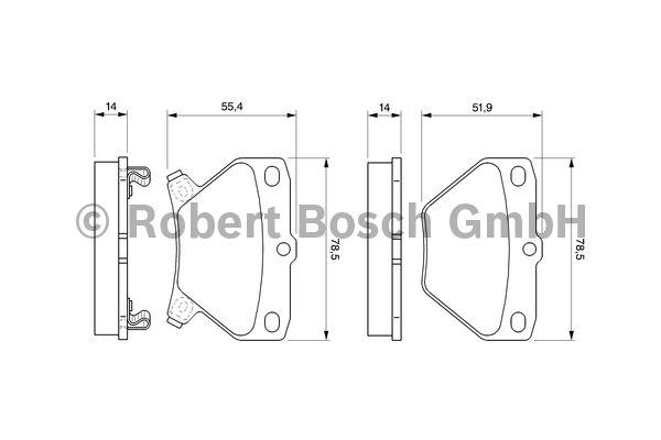 Kit de plaquettes de frein, frein à disque - BOSCH - 0 986 424 630