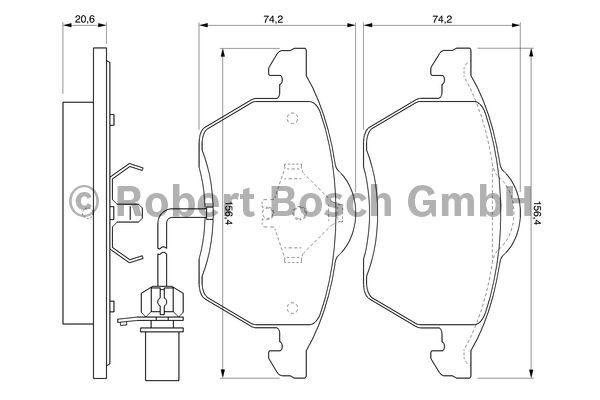 Kit de plaquettes de frein, frein à disque - BOSCH - 0 986 494 035