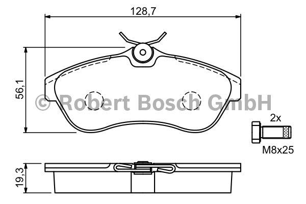 Kit de plaquettes de frein, frein à disque - BOSCH - 0 986 424 635