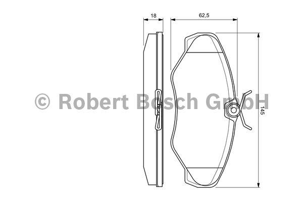 Kit de plaquettes de frein, frein à disque - BOSCH - 0 986 424 636
