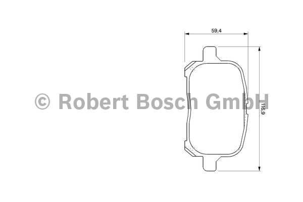 Kit de plaquettes de frein, frein à disque - BOSCH - 0 986 424 639