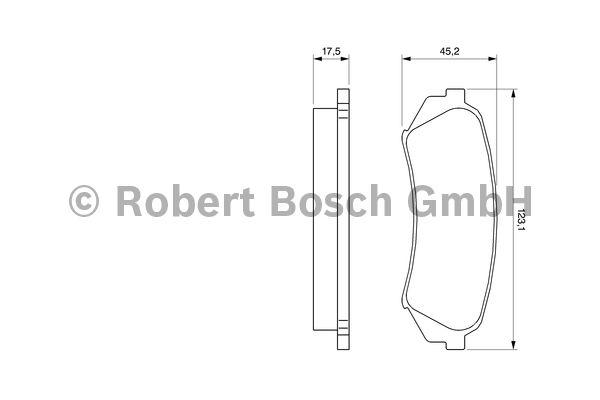 Kit de plaquettes de frein, frein à disque - BOSCH - 0 986 424 641