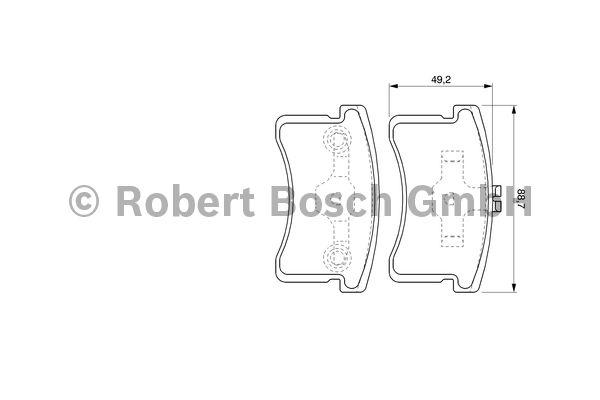 Kit de plaquettes de frein, frein à disque - BOSCH - 0 986 424 642