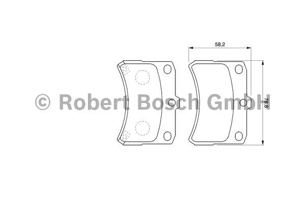 Kit de plaquettes de frein, frein à disque - BOSCH - 0 986 424 643