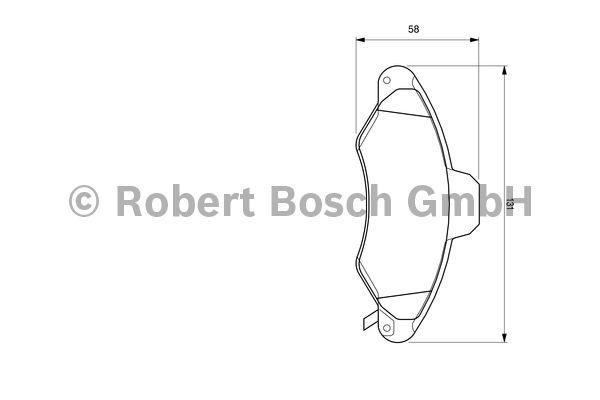 Kit de plaquettes de frein, frein à disque - BOSCH - 0 986 424 644