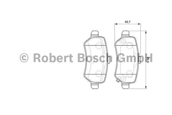 Kit de plaquettes de frein, frein à disque - BOSCH - 0 986 424 646