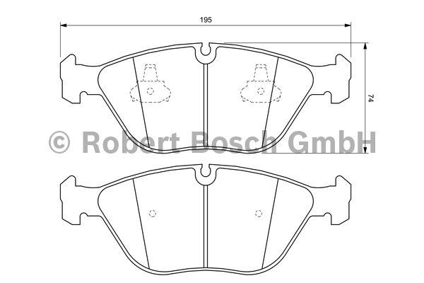 Kit de plaquettes de frein, frein à disque - BOSCH - 0 986 424 649